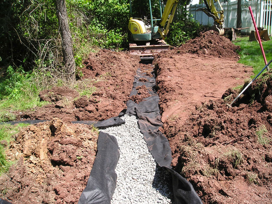 Drainage services by Buckwalter Landscape Services