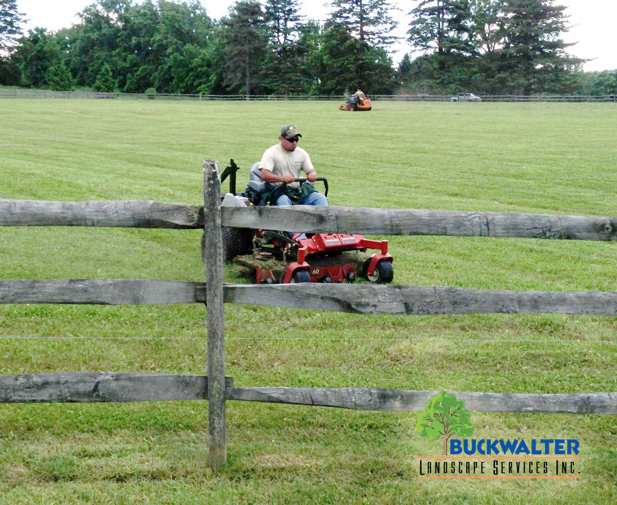 Mowing lawns, landscape services in Berks County PA